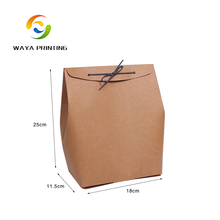 Chinese suppliers produce various sizes brown kraft airtight paper bag with rope sealing