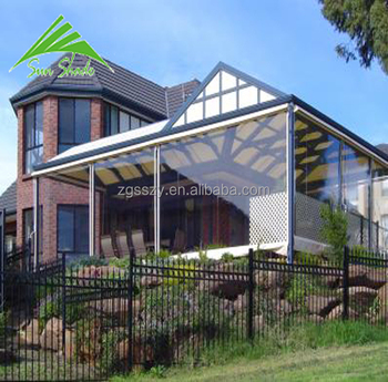 Clear PVC cafe ,bistro,verandah pergola blinds for outdoor