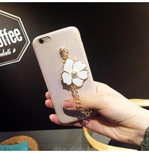 pu leather 3D Relief Flower Pendant PC Cell Phone Case For iphone 8 8plus 7 7plus 6 6plus