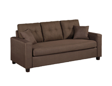 Three seater brown and black fabric living room sofa, Hotel <strong>furniture</strong>