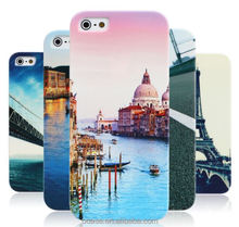 Natural scenery art painting plastic phone case for iphone 6 plus case custom .
