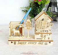 New design wooden puzzle toy music box for kids