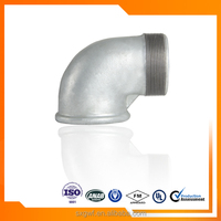 malleable iron pipe fitting male&female elbow 90 degree