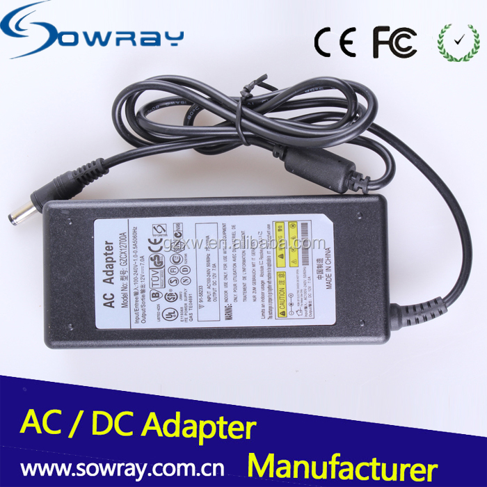 12V 7A 84W AC Adapter For LCD Monitor TV Switching Charger Power Supply