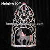 Wholesale 10inch Tall Crystal Horse Crowns Pageant Crowns tiara