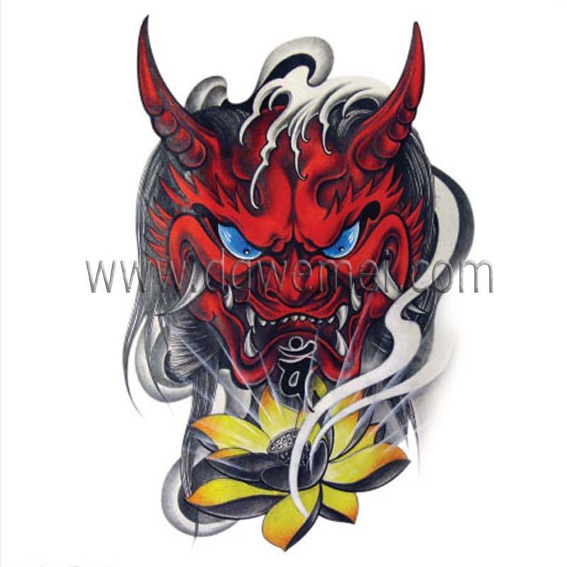 Personalizzati halloween diavolo tatuaggio adesivi id for Custom tattoo stickers