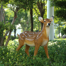 Outdoor resin life size deer statues for garden decoration
