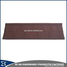 Side flashing terracotta stone coated metal roof tiles