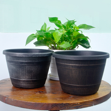 New products indoor home garden decorative plastic round planter/flower pots wholesale