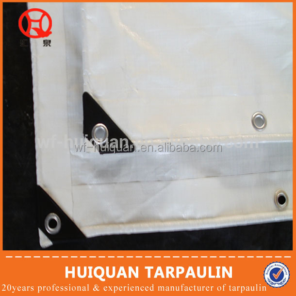 Polythene tarpaulin truck cover with eyelets golden supplier