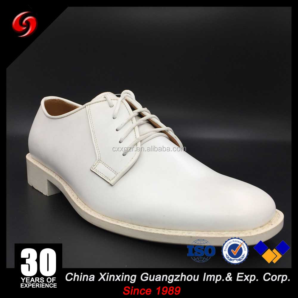 Factory price white grain leather army officer shoes top grain leather military shoes for foma dress