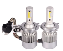 Car LED Bulbs 36W 3800LM 6000K Car Headlamp C6 LED Headlight H7 H1 H3 H8 H11 9005 9006 9012 for volkswagen polo accessories