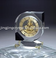 Promotional k9 crystal desk table clock