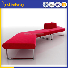 shopping mall contemporary curved S shape sofa