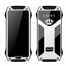 High Quality vkworld Crown V8 Super Slim Credit Card Size Mobile Phone Support Anti Thief/Guard Lock/IR Control/Pedometer