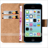 Flip Wallet Leather Case with Stand Function For Apple iPhone 5C, For iPhone 5C Case