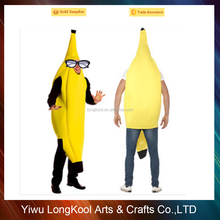 Wholesale good quality 100% polyesterday adult cosplay banana costume