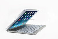 Magnetic slot wireless Bluetooth keyboard for IPad Air with Aluminum alloy bottom