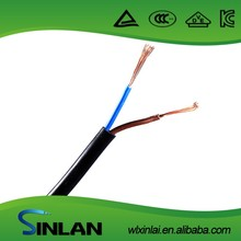 low voltage super flexible flat/round pvc blue electrical copper power cable