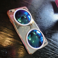 pc 3d mirror surface sunglass cute case for iphone 6 plus case apple