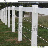 electric fence with pvc post