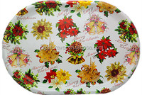 decorative oval christmas plastic tray ,Paper transfer tray,Charger Plates