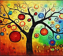Lucky tree Abstract oil painting