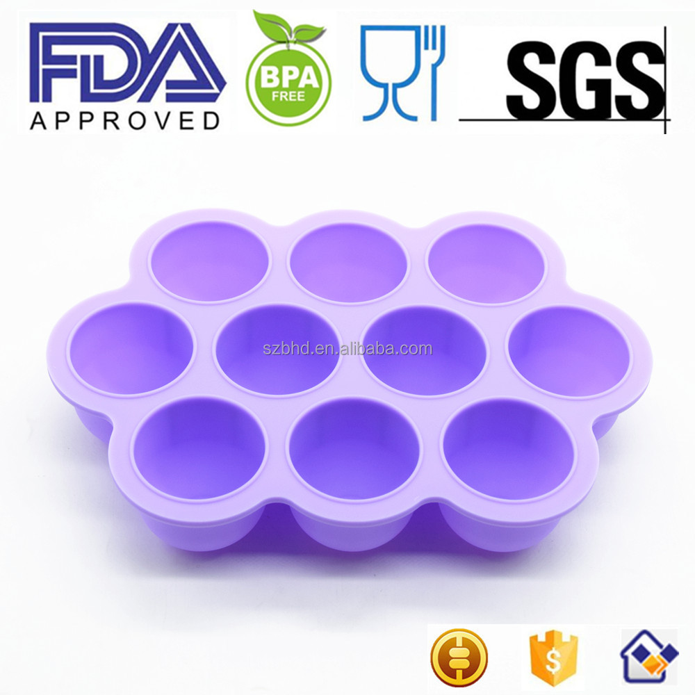 Silicone Baby Food Storage Freezer Tray Multiportion Ice Baby Food Freezer Storage silicone rubber ice tray