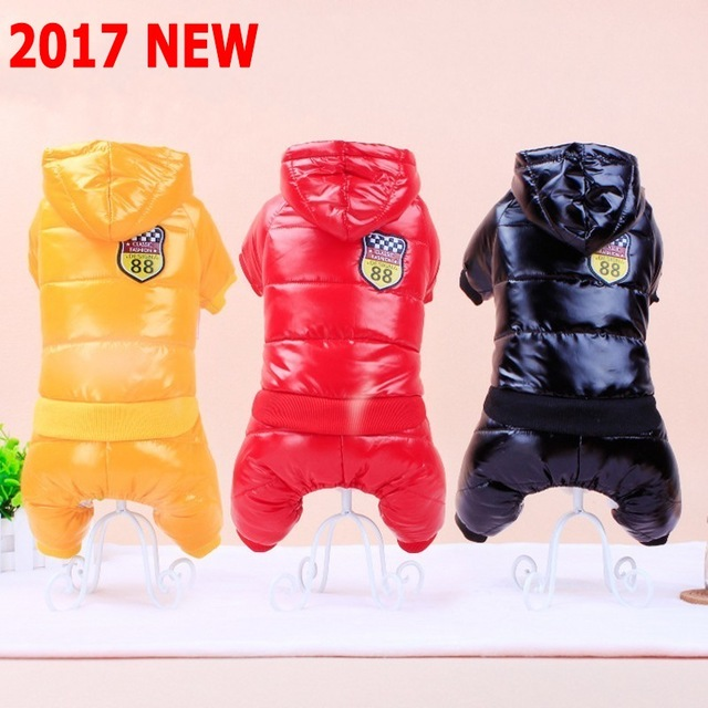 PDERIN93 2017 New Waterproof Fabric Dog Coat Winter Large Size Thickening Down Jacket Clothing For Pet Dogs
