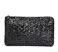 Black Shiny Glitter Clutch Bag for Evening Party