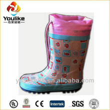 YL1711 new style children transparent rubber boots