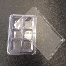 Candle plastic PET clear clamshell packaging box