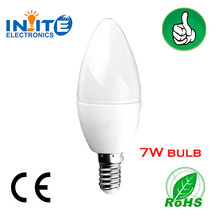Alibaba express for lighting products high lumen SMD2835 7W candle bulb design candle