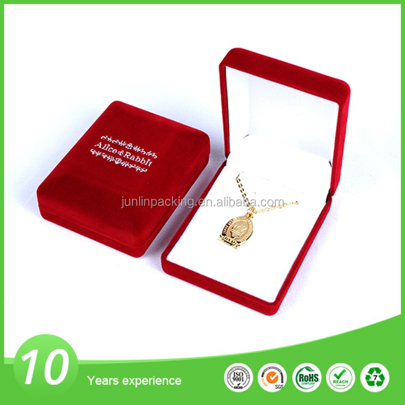 Exquisite jewellry necklace packaging velvet jewelry box