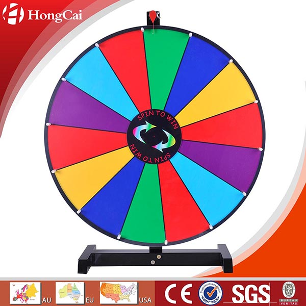 "24"" Dry Erase Tabletop Prize Wheel, Promotional Spinning Game Wheel of Fortune"