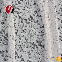 New listing gray soft lace fabric for ladies transparent shirt