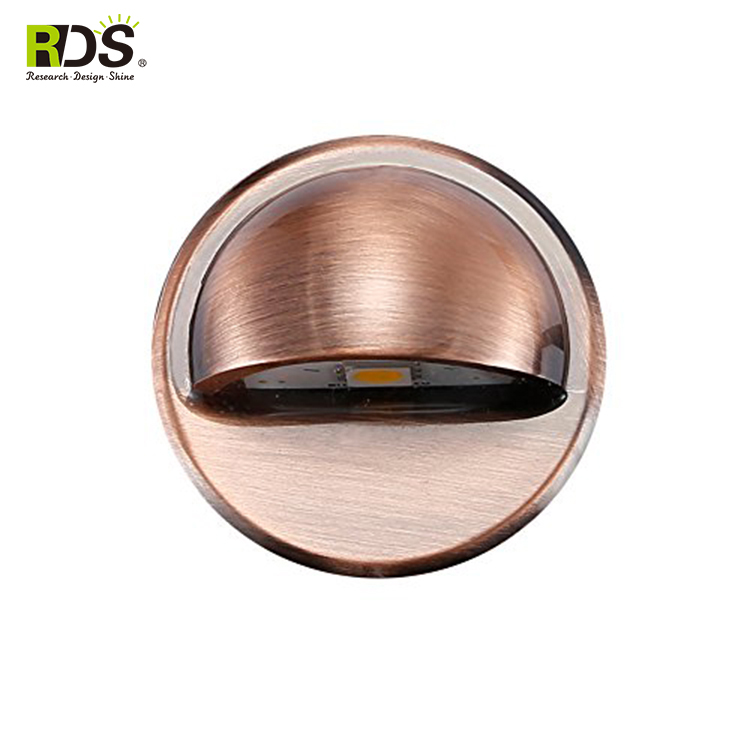 Bulk wholesale 0.4w RGB color solar led warm white decking lights