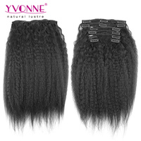 2016 Yvonne fashion hair new seller kinky straight clip in hair extensions for black women