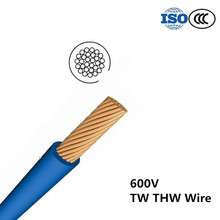 600V Copper Building Wire THW TW 12 Electrical Wire