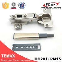 popular push open cabinet soft close glass door hinge for cabinet