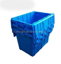 Stackable and nestable Plastic shipping Tote Box for Storage or Moving