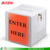 "China supplies hot sell white 12"" x 12"" Acrylic Ballot lock Box with Clear Pocket"