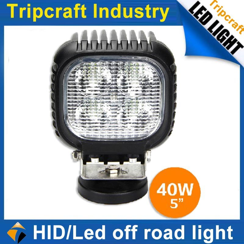 Truck, Feller, Agricultural, Mining, Buses 4 Inch 40W Square LED Head Light Driving light