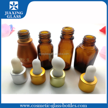 Amber Essential Oil/Olive Oil Bottle Suppliers Cosmetic Glass Dropper Bottle 30ml Liquid Square Glass Bottle