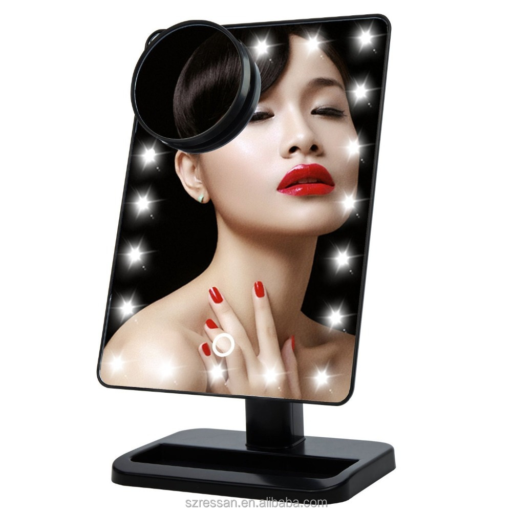 2016 new gadgets 22led Led light make up mirror/Led table mirror with touch control switch