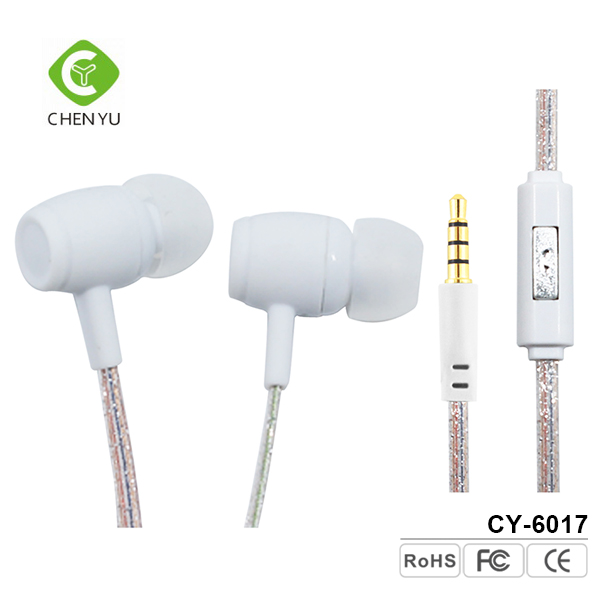 Wholesale price white 3.5mm plug 1.2m earphone for iPhone 7