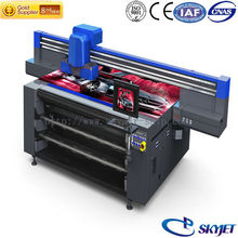 skyjet Top selling print varnish and white Fuji ink flatbed tabletop uv printer