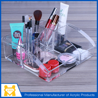 OEM manufacture customized acrylic makeup storage containers