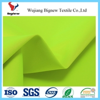 EN471 yellow fluorescent oxford fabric reflective fabric with pu coating for workwear