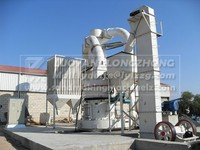 Fine powder mill, whole milling line with jaw crusher, feeder, bucket elevator, control cabinet, YGM75 standard type